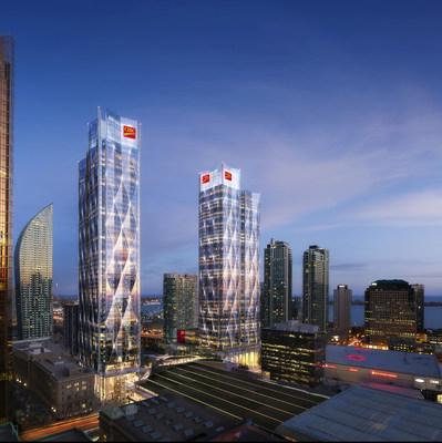 Le nouveau siège social de la Banque CIBC est développé par Ivanhoé Cambridge et Hines et est conçu par WilkinsonEyre et Adamson Associates. (Groupe CNW/Banque Canadienne Impériale de Commerce)