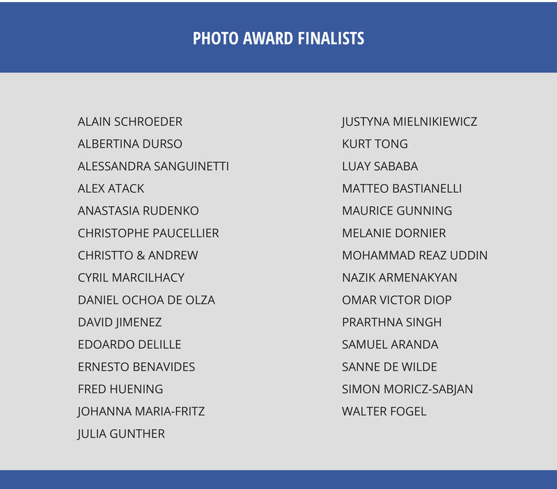 The 29 finalists - excellence in artistic and conceptual expression in the Photo Award Category