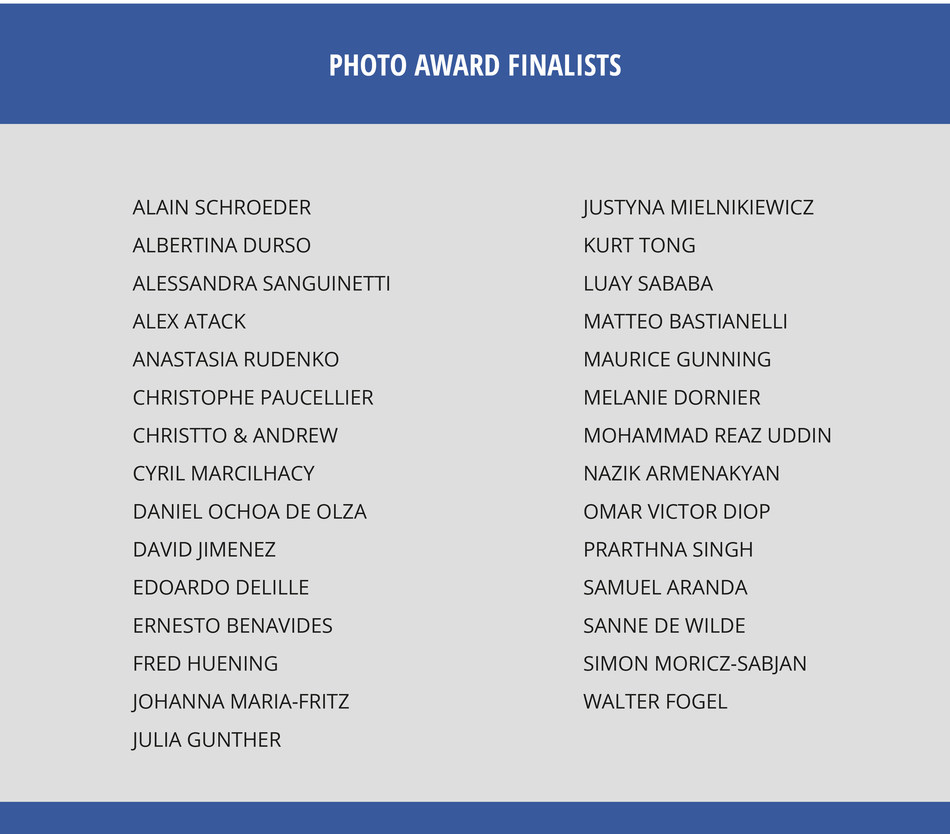 The 29 finalists - excellence in artistic and conceptual expression in the Photo Award Category (PRNewsfoto/FC Barcelona)