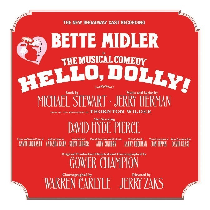 The New Broadway Cast Recording of Hello, Dolly! Album Cover