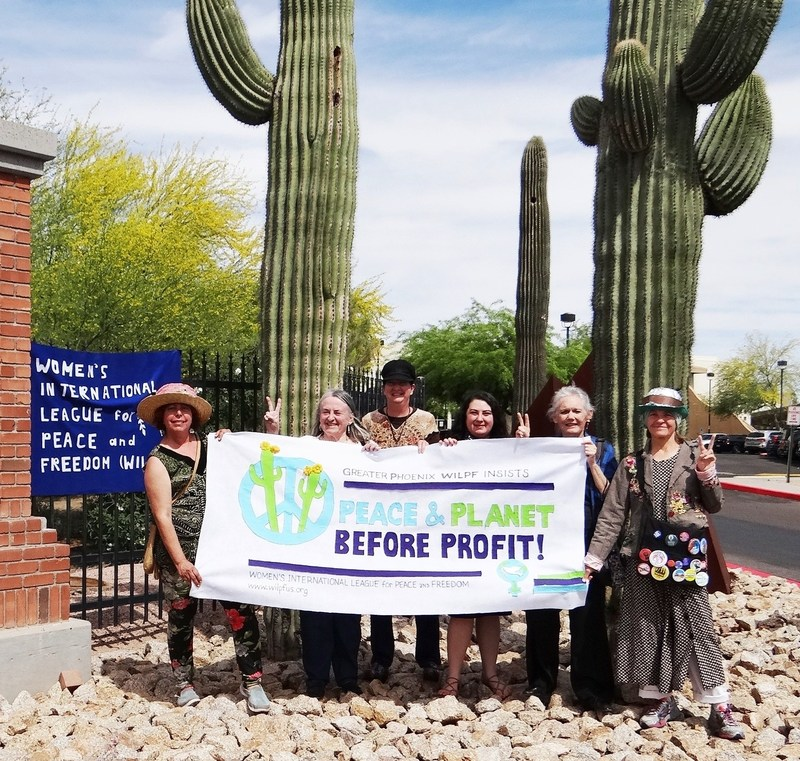 GREATER PHOENIX WILPF - Barbara Taft beejayssite@yahoo.com 480-380-6325 April 22 - 11am - 4pm - Earth Day Celebration at Steele Indian School Park in Phoenix, 300 E Indian School Rd, Phoenix, AZ. Speakers, information, Raging Grannies sing.