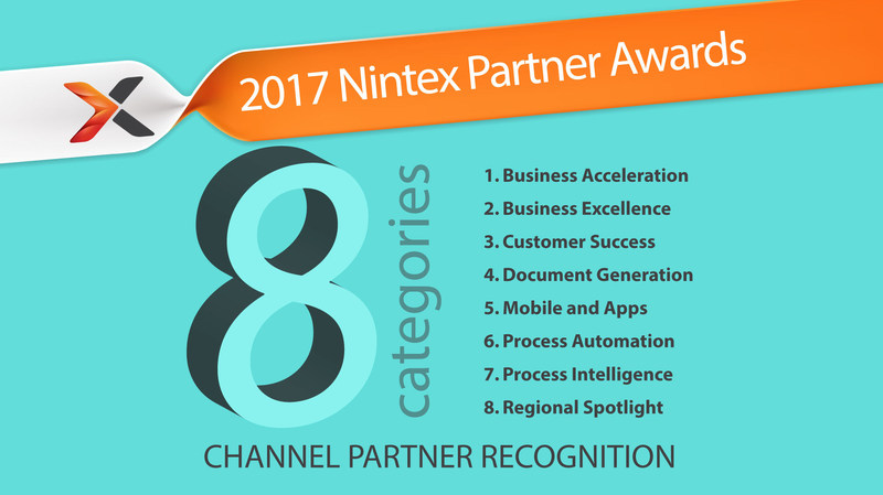 Nominations are open for the 2017 Nintex Partner Awards. A winner from each region will be selected for each of the 8 categories.