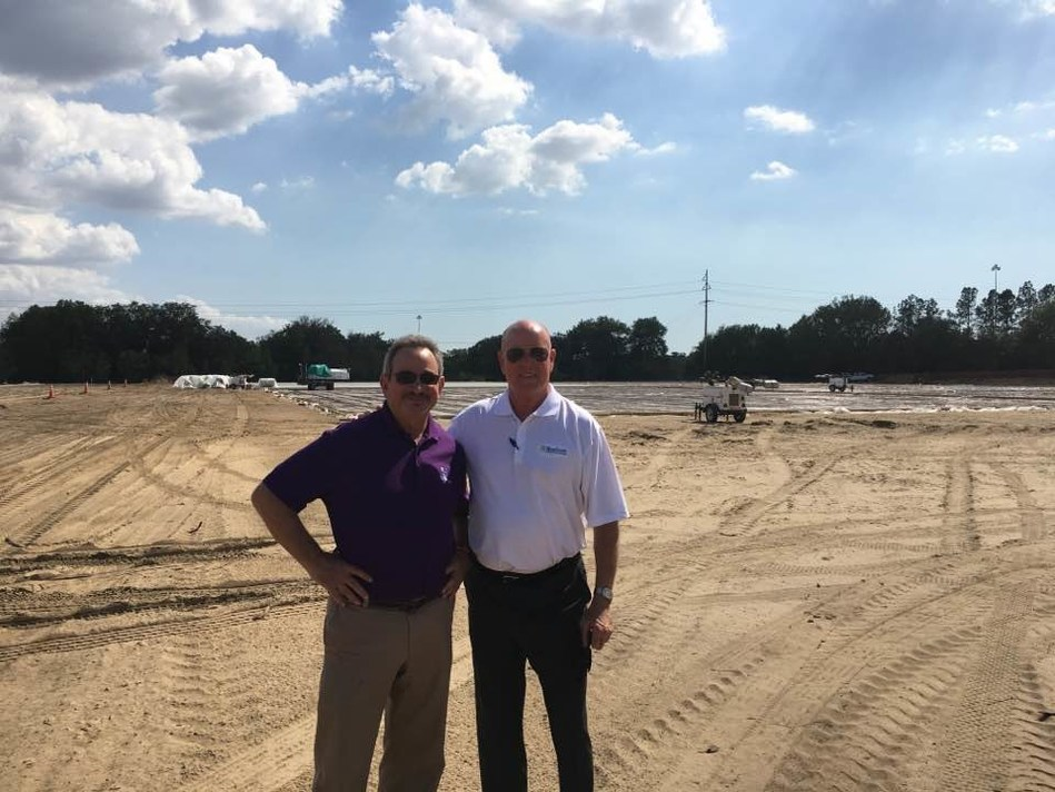 NewSouth Window founders at the new building site, Dan Ochstein, CEO (left) and Earl Rahn, President (right)