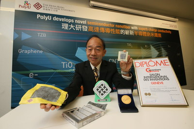 A research team led by Prof. Wallace Leung develops novel semiconductor nanotubes with superb charge conductivity which can be widely used in different applications, especially in environmental arena. (PRNewsfoto/The Hong Kong Polytechnic Univer)