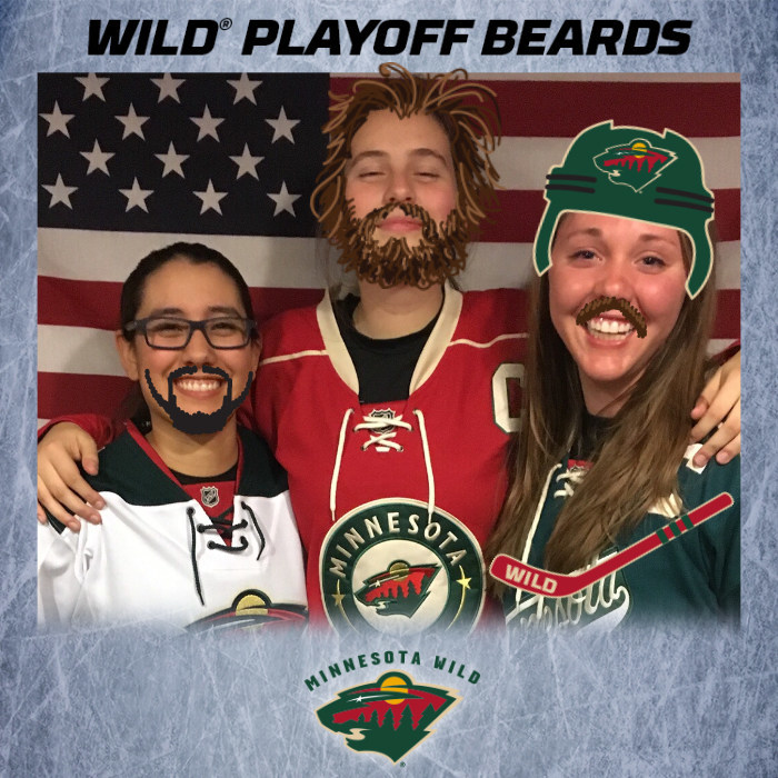 Minnesota Wild fans beard themselves for playoff hockey and share their good-luck in the form of a digital photo on social media.
