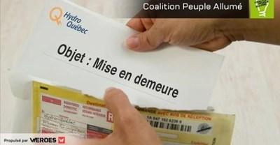 Obligeons Hydro-Québec à nous redonner notre argent (Groupe CNW/Weroes)