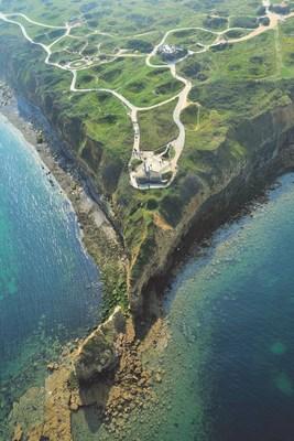 Aerial photo of Pointe du Hoc