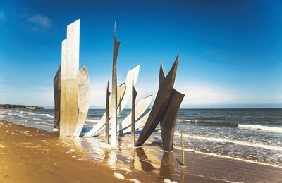 Sculpture on Omaha Beach.