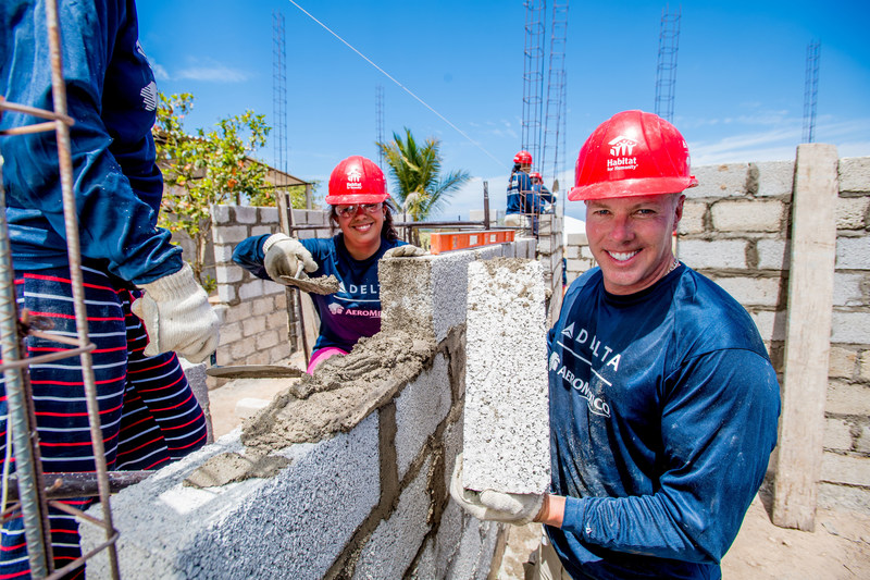 Delta celebrates 13th Global Build with Habitat for Humanity in Mexico