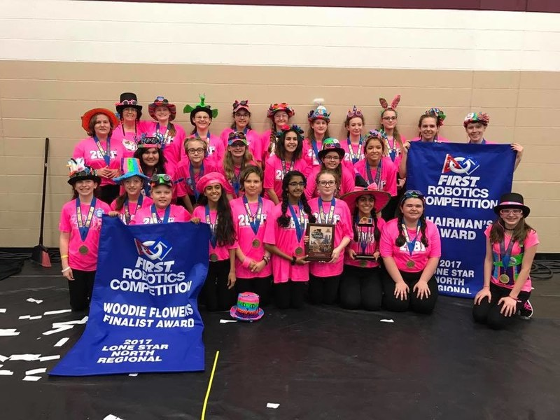 Austin, Texas Girl Scout Team #2881 – The Lady Cans – Wins  Most Prestigious Award in 2017 FIRST® Robotics Lone Star North Regional Competition