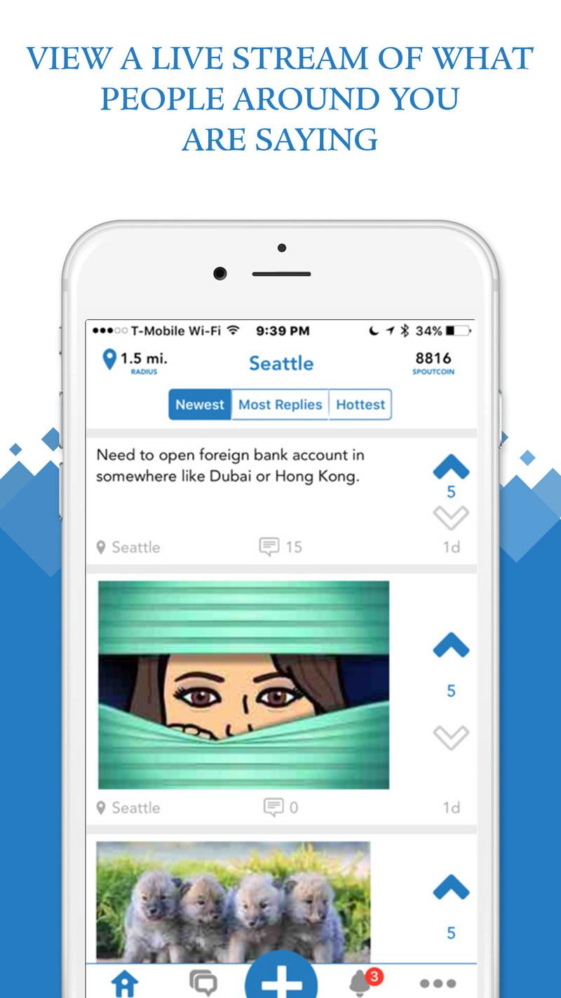 Spout iOS screenshot
