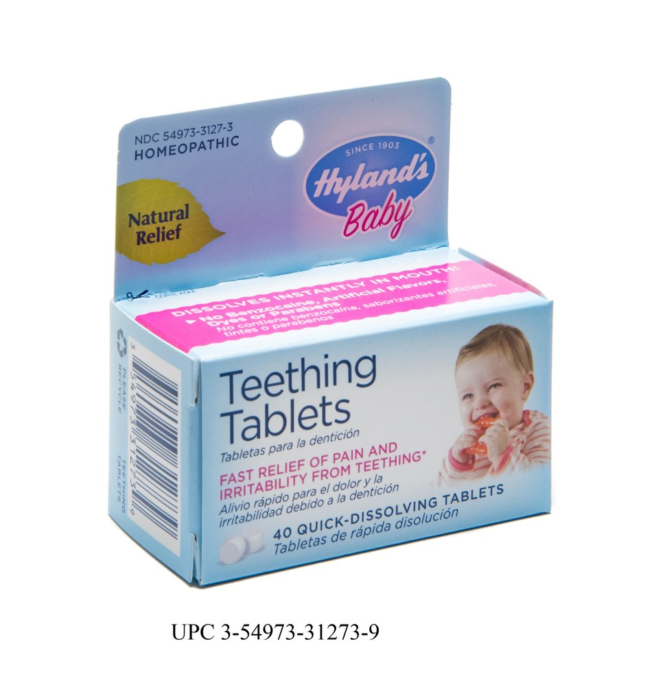 Hyland's Baby Teething Tablets UPC 3-54973-31273-9