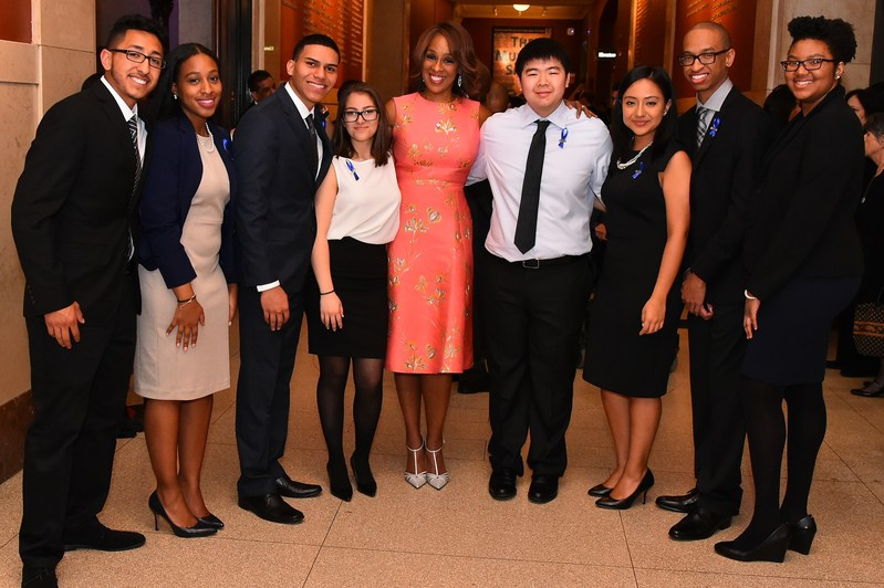 SEO Annual Awards Dinner Emcee Gayle King, of CBS This Morning and editor-at-large for O, the Oprah Magazine, with the SEO Scholars who spoke at the SEO Annual Awards Dinner. Photo Credit: Sunny Norton