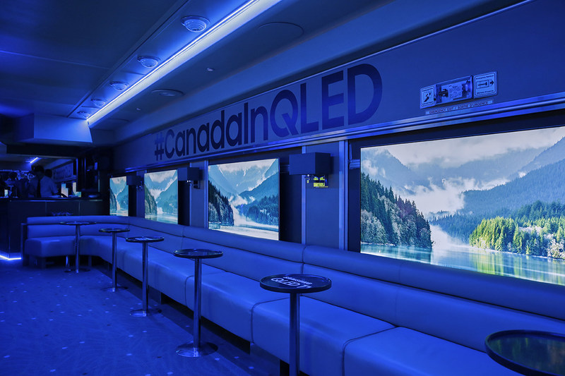 In celebration of the QLED TV Canadian launch, Samsung partnered with Canadian cinematographer, Jon Simo, to showcase the country's beautiful landscapes on the Samsung QLED TV. (CNW Group/Samsung Electronics Canada)