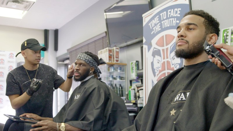 In partnership with Wahl Canada, basketball pros DeMarre Carroll and Cory Joseph are engaging in a playoff beard-growing battle to raise money for The Carroll Family Foundation. (PRNewsfoto/Wahl Canada)