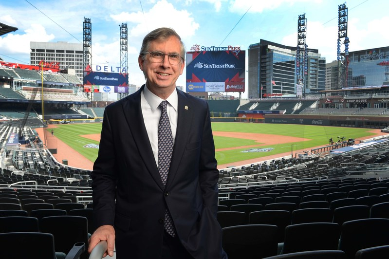 SunTrust Chairman and CEO, Bill Rogers, at SunTrust Park, the new state-of-the-art home of the Atlanta Braves. The partnership between the Atlanta Braves and SunTrust Banks, Inc., unites two iconic Atlanta brands to create a premier destination and sets a new standard in naming rights sponsorships.