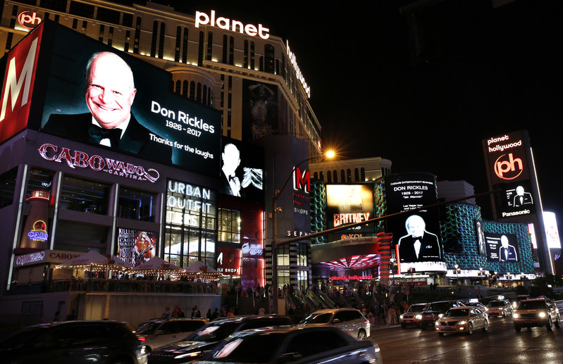 On Thursday, April 13, Las Vegas honored legendary entertainer Don Rickles with photo display.