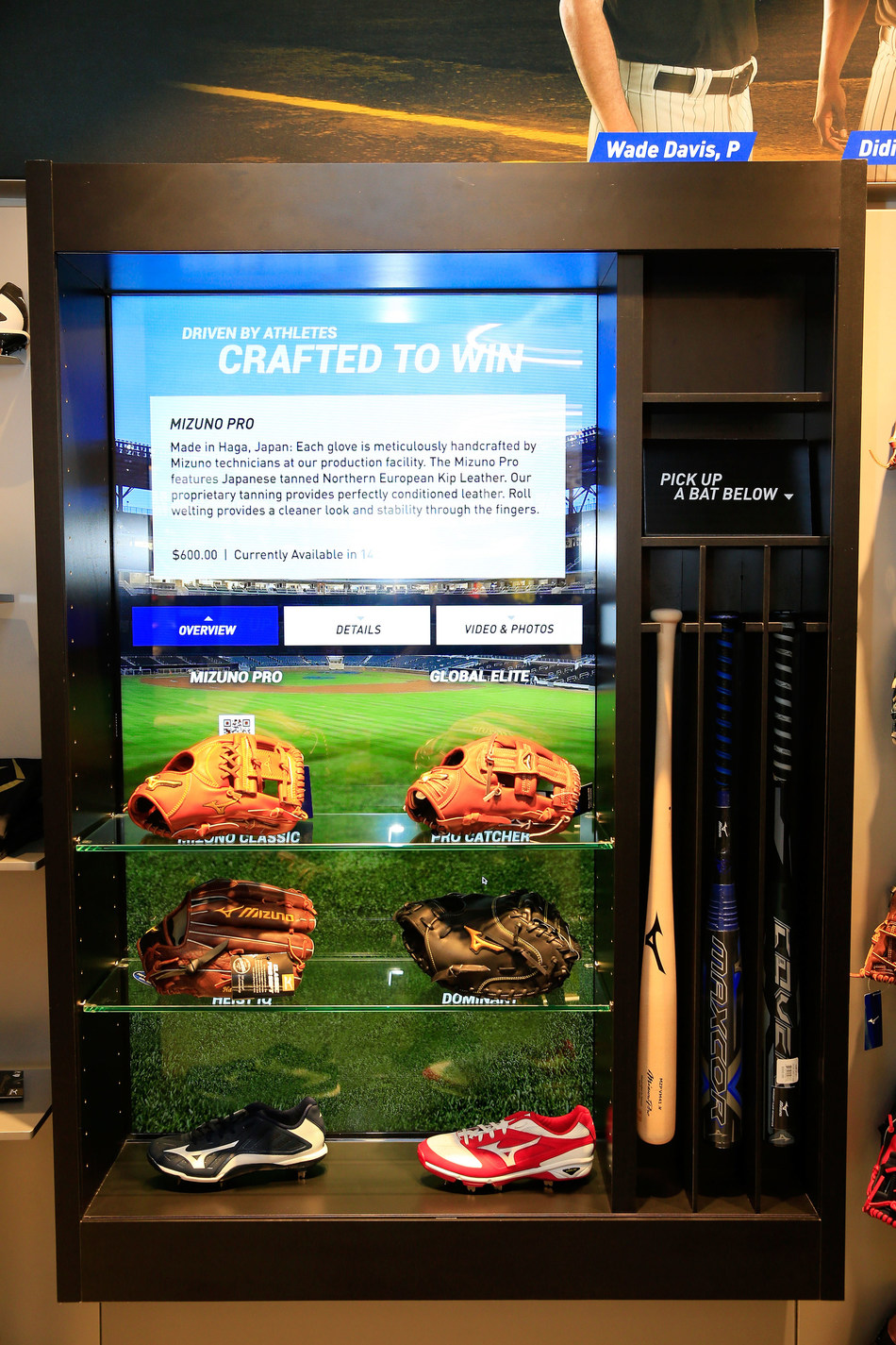 ATLANTA, GA - The Mizuno Experience Center is just steps from the new SunTrust Park. Interactive displays at the Experience Center use RFID technology to showcase the details behind Mizuno's premium gear.  (Photo by Daniel Shirey/Getty Images for Mizuno)