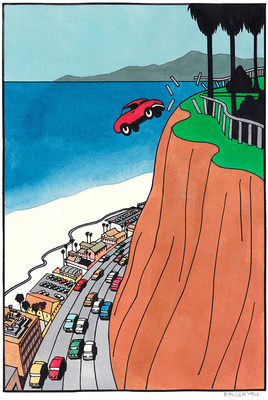 Car Off Cliff by Ken Price