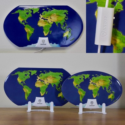 ANTOP Celebrates Earth Day With New Global Map Digital Indoor HDTV Antennas