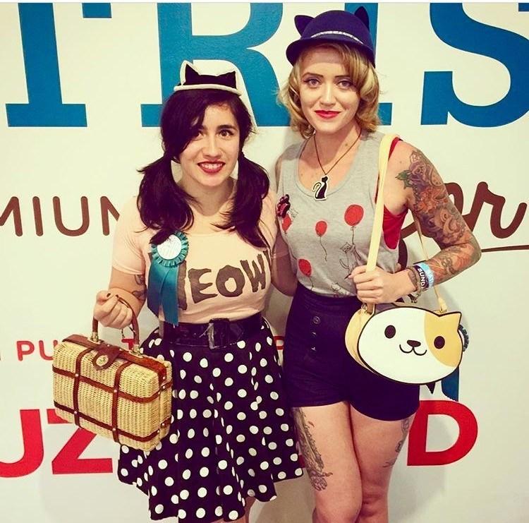 Cat ladies at CatCon 2016. Image courtesy of @ladybearcat_