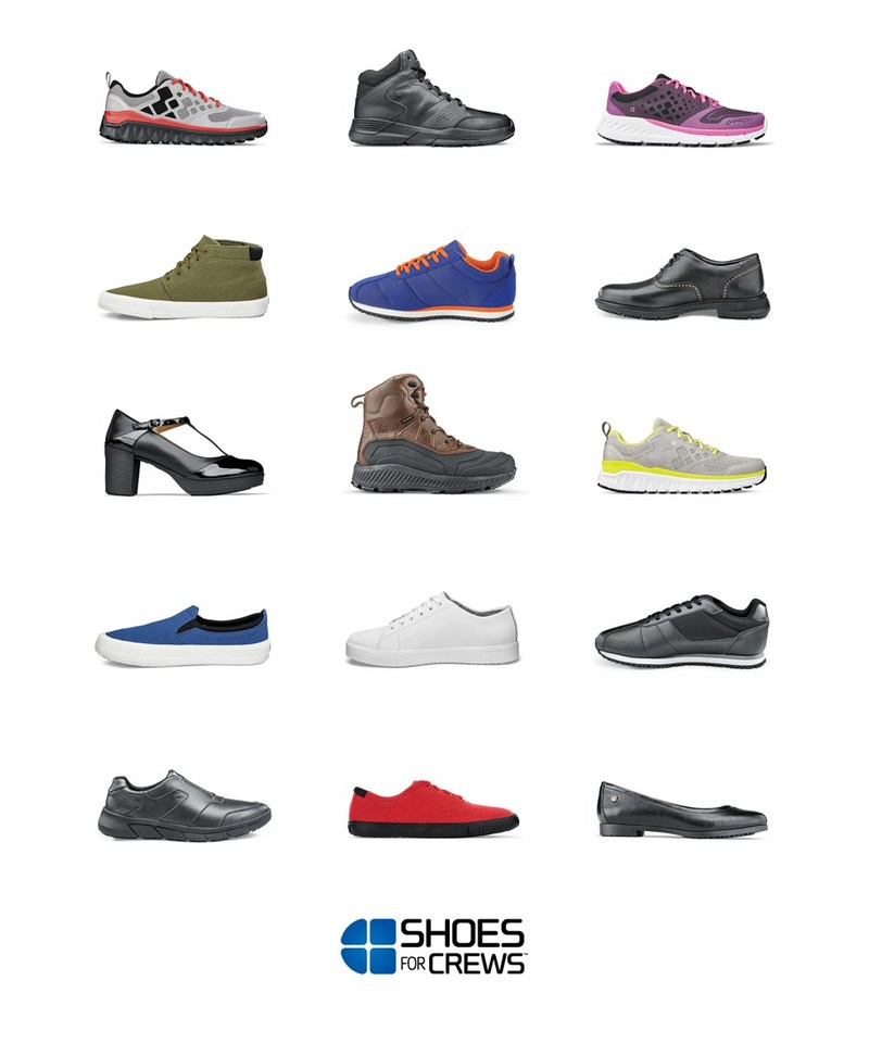 Introducing the New SHOES FOR CREWS. Comfort, Quality and Performance in 77 New Styles.