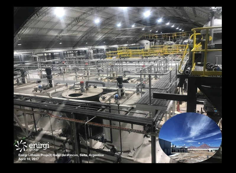Figure 1: View from the Control Room, Southern Building, DXP Plant, Enirgi Lithium Project (CNW Group/Enirgi Group Corporation)