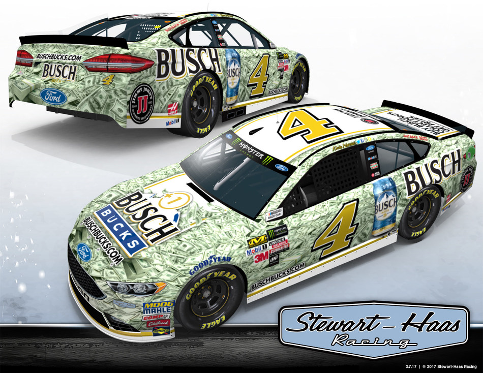 In conjunction with the launch of the Busch Bucks loyalty program, Busch beer is giving one race fan the chance to win a million bucks – matching the first-place prize taken home by the winner of the NASCAR All-Star Race at Charlotte Motor Speedway on May 20 – but only if it's Harvick who takes the checkered flag.