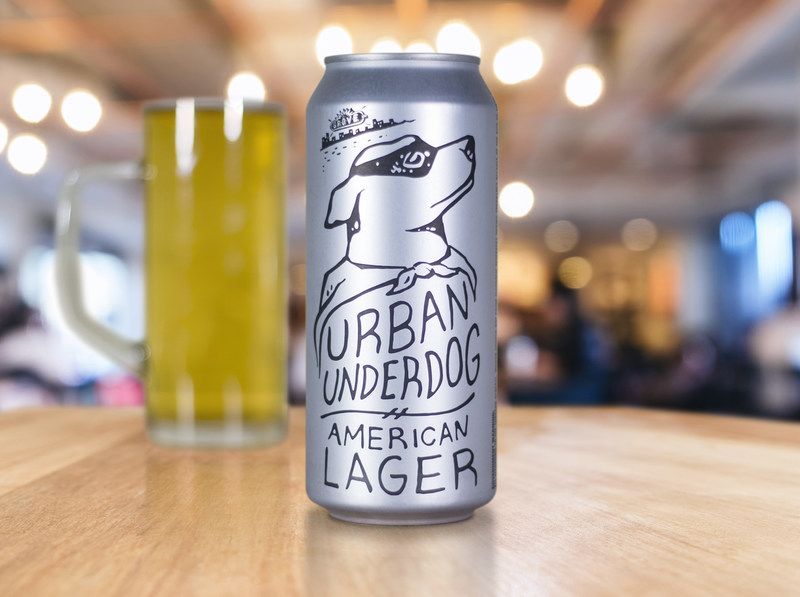 Urban Underdog, the latest specialty craft beer offering from Urban Chestnut Brewing Company, is now available in Ardagh 16 oz. beverage cans with matte finish.