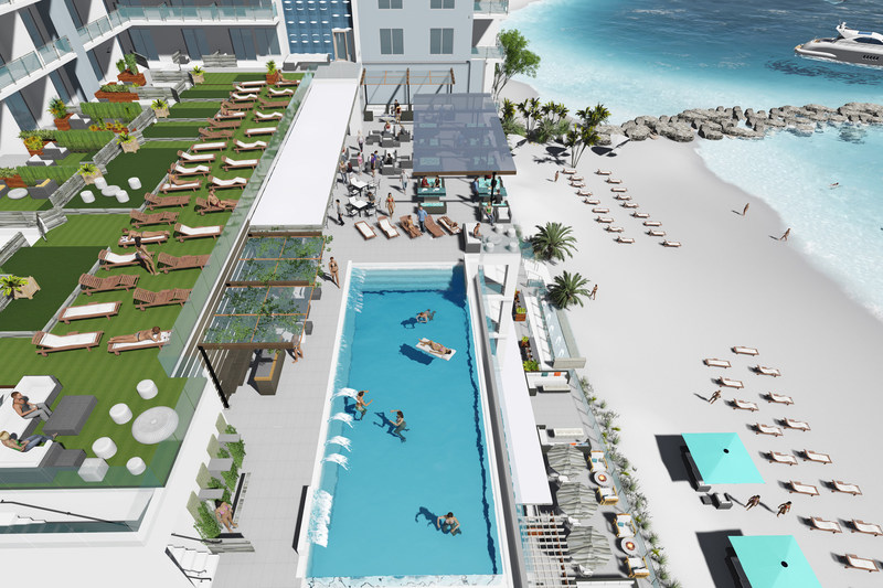 JW Marriott Clearwater Beach - Pool and Private Beach, Artistic Rendering