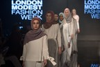Malaysia's Aidijuma showcasing its globally renowned scarfs and shawls at Modanisa London Modest Fashion Week 2017