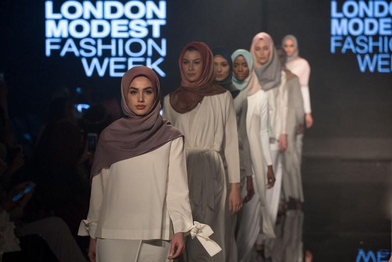 Malaysia's Aidijuma showcasing its globally renowned scarfs and shawls at Modanisa London Modest Fashion Week 2017