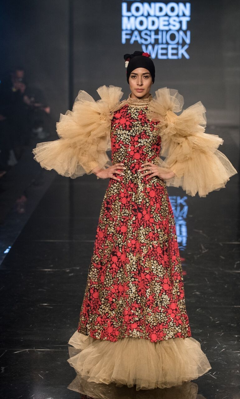This dress by American designer Fluame was one of the standout outfits at Modanisa London Modest Fashion Week 2017