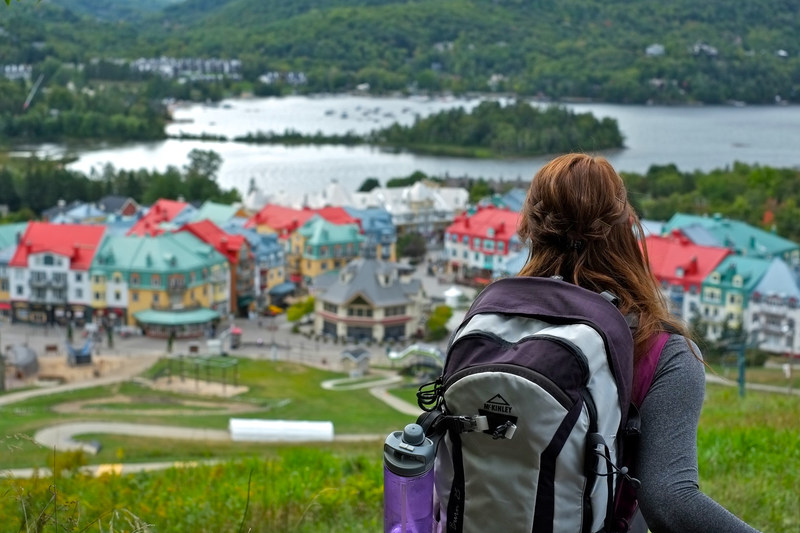 Overlooking Mont Tremblant Village (CNW Group/Porter Airlines Inc.)