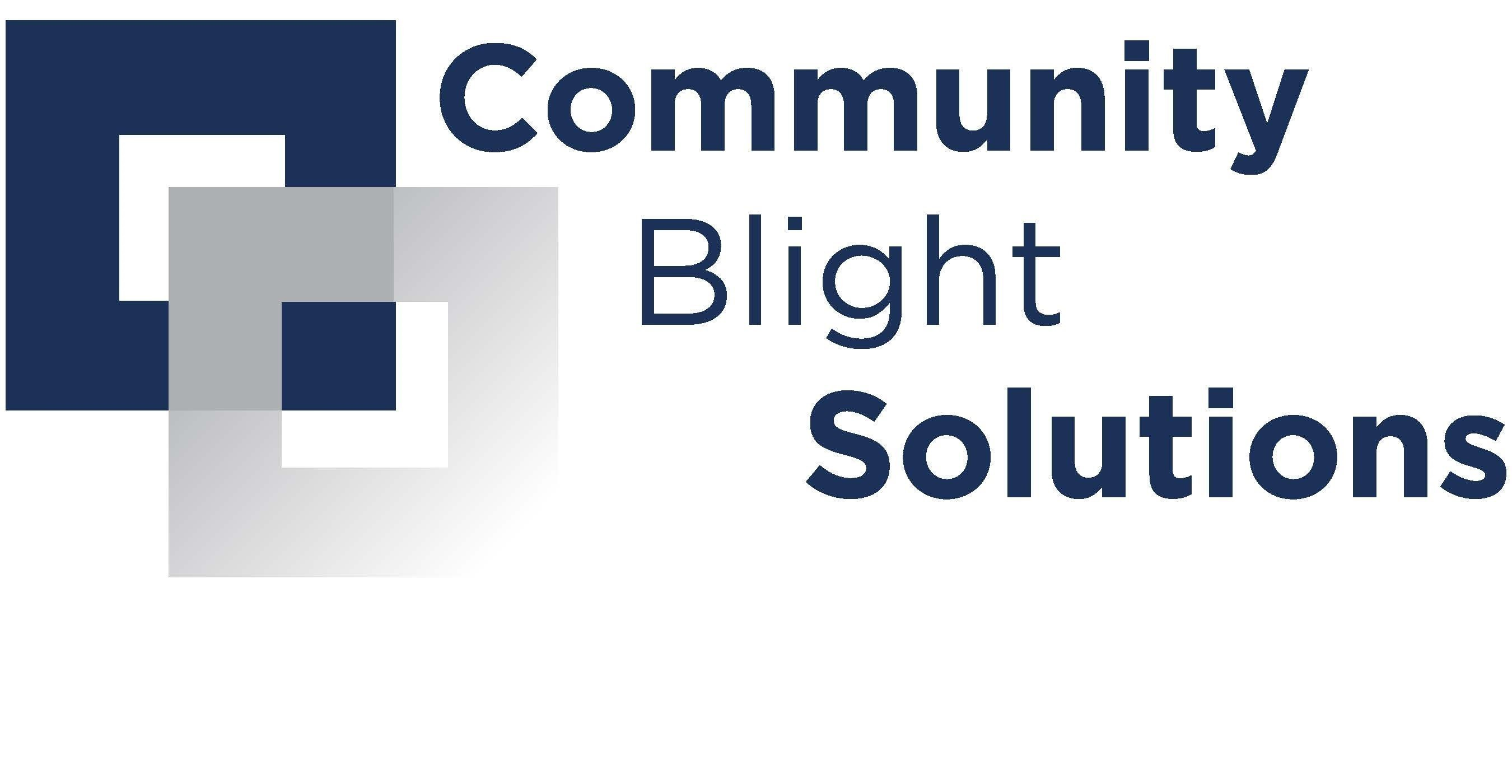 Community Blight Solutions Logo (PRNewsfoto/Community Blight Solutions)