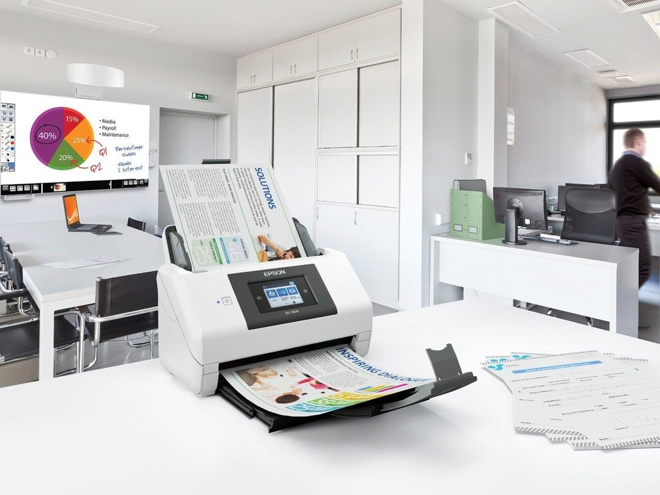 Epson DS-780N Network Color Document Scanner features network security and document management for greater efficiency