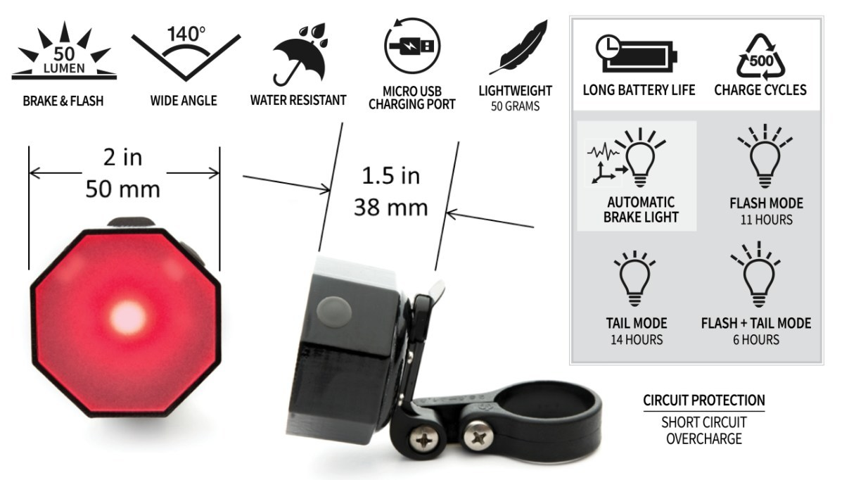 Stoptix Bicycle Brake Light