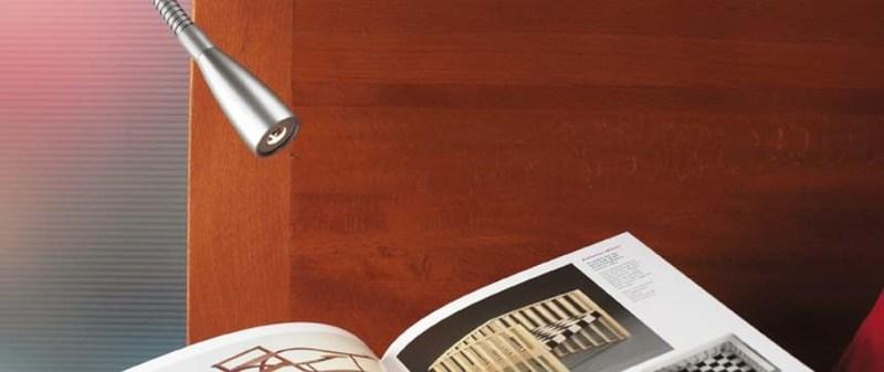 Hera Edenroc flexible arm headboard reading light. Commonly seen in Holiday Inn Hotels.