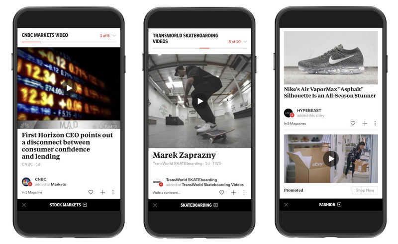 Flipboard is making video a central part across its platform, giving all media partners a new audience for their video content. Flipboard also opens its premium environment and now accepts standard (VAST) video advertising from brands around the world.