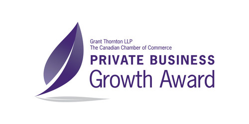 The Private Business Growth Award program, presented by the Canadian Chamber of Commerce and Grant Thornton LLP commences this month, recognizing some of Canada's top private businesses. This program honours private Canadian businesses that have achieved strategic, sustainable and holistic growth. Nominate a business today! (CNW Group/Private Business Growth Award)