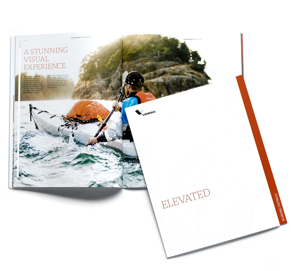 "Verso Showcases Brighter, Whiter Sterling® Premium in New Printed Promotion: ""Sterling® Premium. ELEVATED."" Promotion Features Innovative U.S. Manufacturer Oru Kayak®."