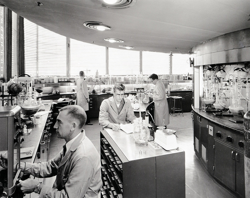 Raid, Glade, OFF! and Pledge were developed in the Research Tower in the 1950's