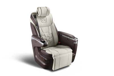 Adient's Integrated Luxury Seat intended for rear-seat passenger comfort and designed in China. (PRNewsfoto/Adient plc)
