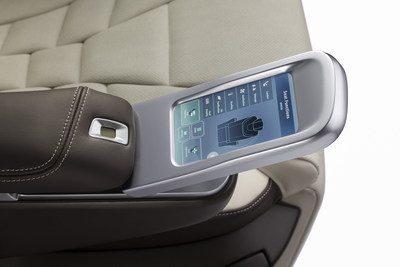 Adient's Integrated Luxury seat features a comfortable and convenient touch screen control. (PRNewsfoto/Adient plc)