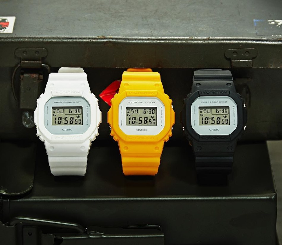 Casio G-SHOCK Clean Military Series, Featuring the Iconic DW5600 Model