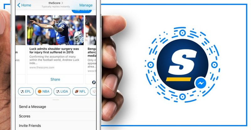 theScore Bot for Messenger now powers group conversations too. (CNW Group/theScore, Inc.)