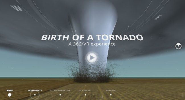 As tornadoes ramp up around spring and summer, turn to The Weather Company, an IBM Business, to learn more about the science behind the creation of a tornado. The Weather Channel digital team offers a 360 virtual reality interaction and article to take you inside the birth of a tornado.