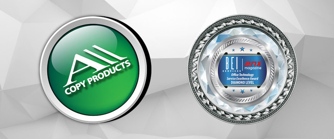 All Copy Products has been awards a top level Diamond service provider by BEI services.
