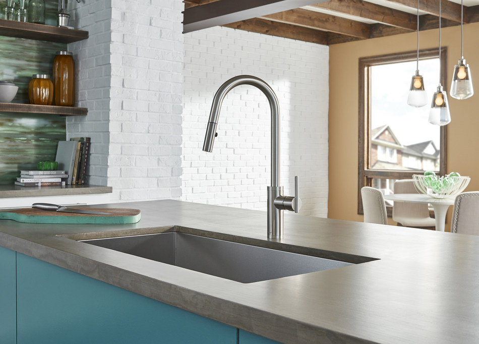 """This """"right-sized"""" pull-down faucet is perfect for any kitchen island."""