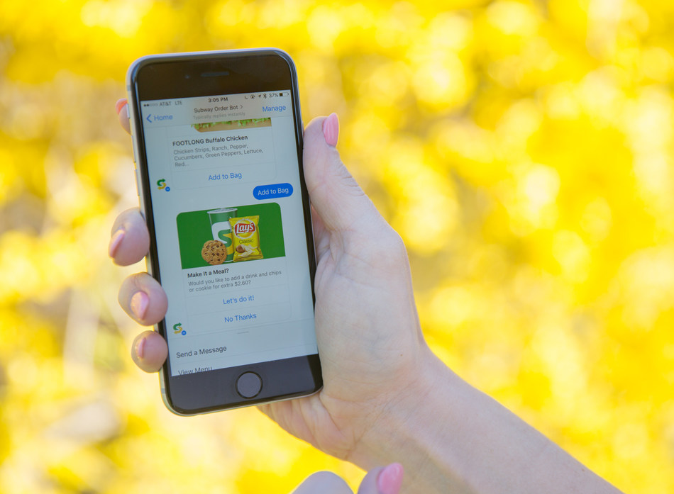 With Subway® restaurant's new bot for Messenger, guests can order sandwiches and salads within Facebook's messaging platform.